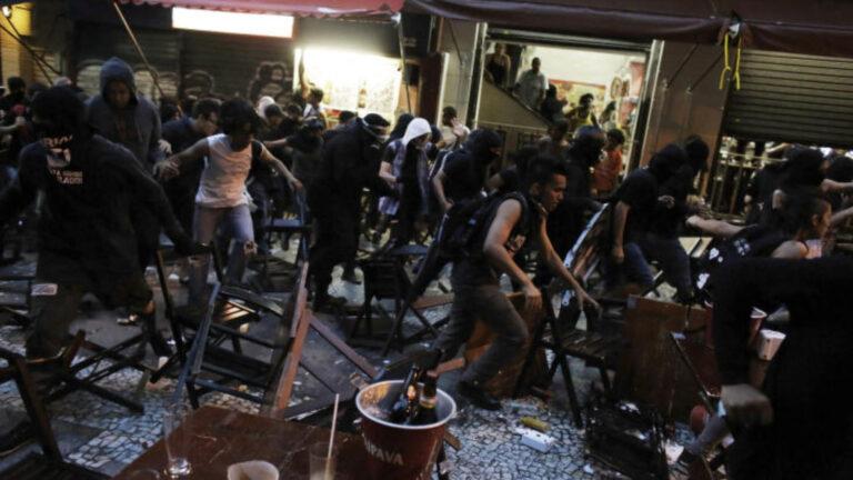 Ночь BLM хаоса
